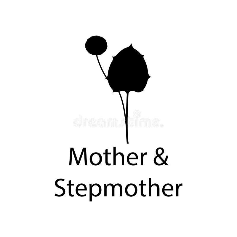 macierzysta i macosza ilustracja Element rośliny ikona dla mobilnych pojęcia i sieci apps Szczegółowy matki i macochy illustra royalty ilustracja