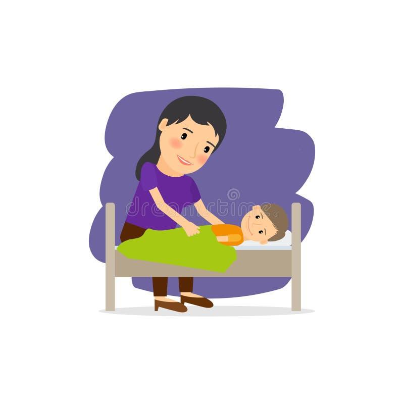 Macierzysta opieka dla dziecka ilustracji