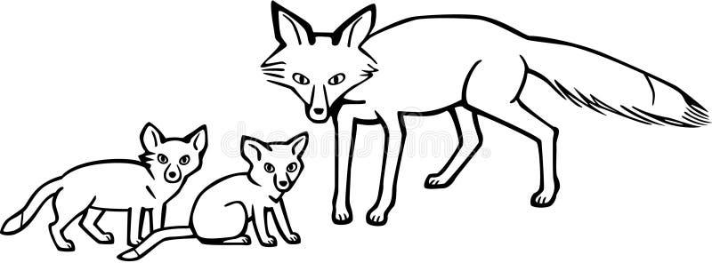 Macierzysty Fox i Cubs royalty ilustracja