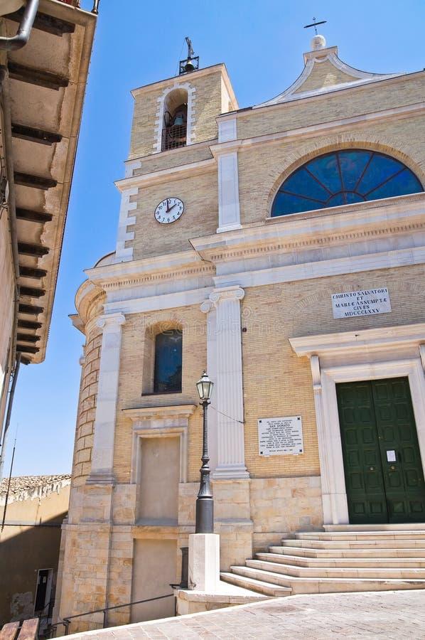 Macierzysty kościół. Biccari. Puglia. Włochy. obraz royalty free