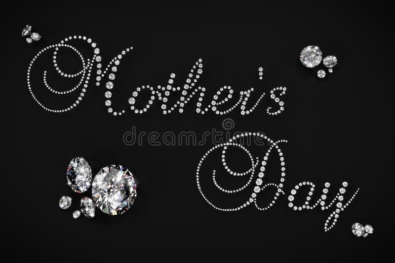 Macierzysty ` s dnia 3D diament odpłaca się fotografia stock