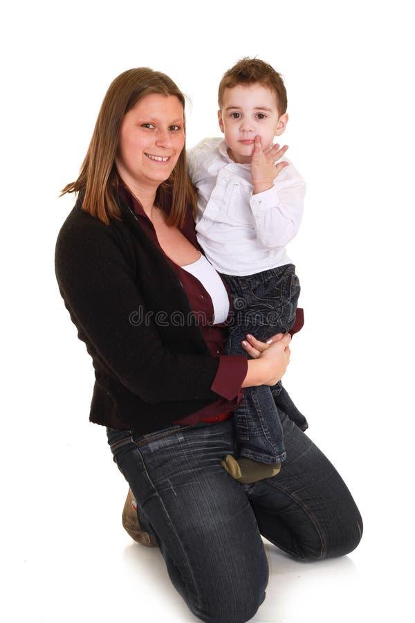 macierzysty syn obraz stock