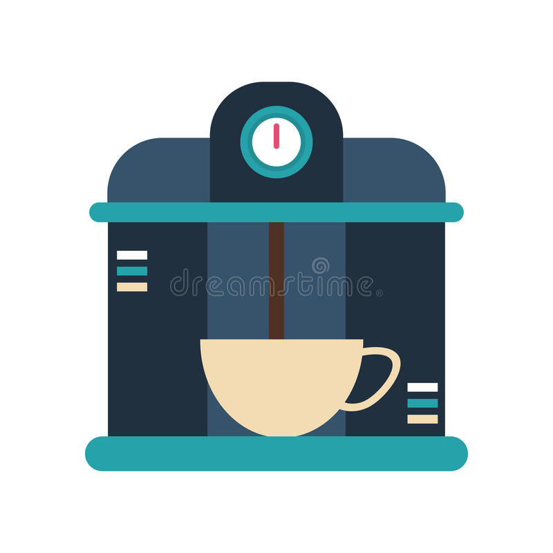 Macine coffee maker cup. Illustration eps 10 royalty free illustration