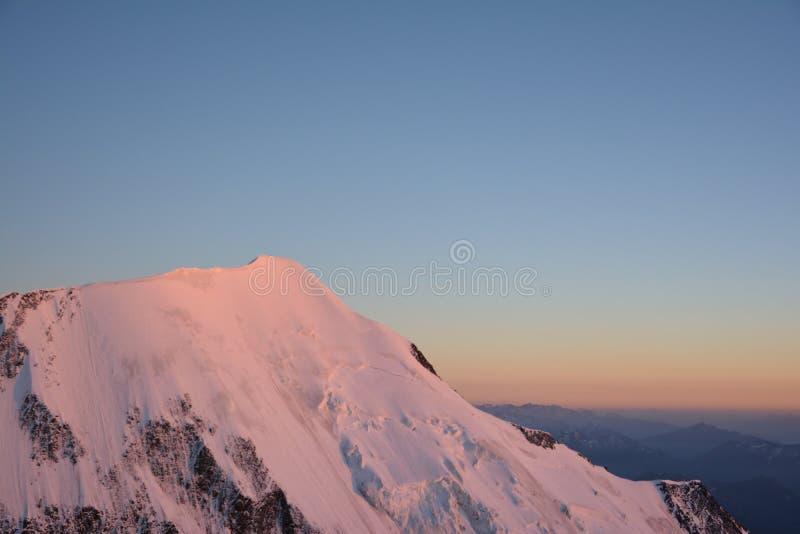 Macizo de Mont Blank imagen de archivo libre de regalías