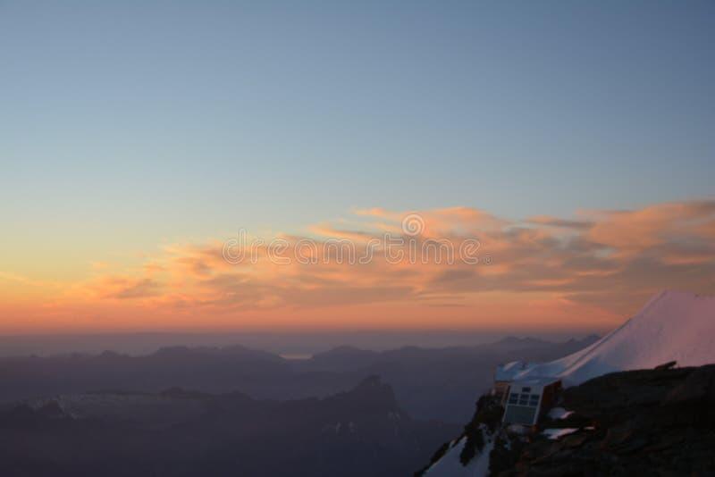 Macizo de Mont Blank foto de archivo libre de regalías