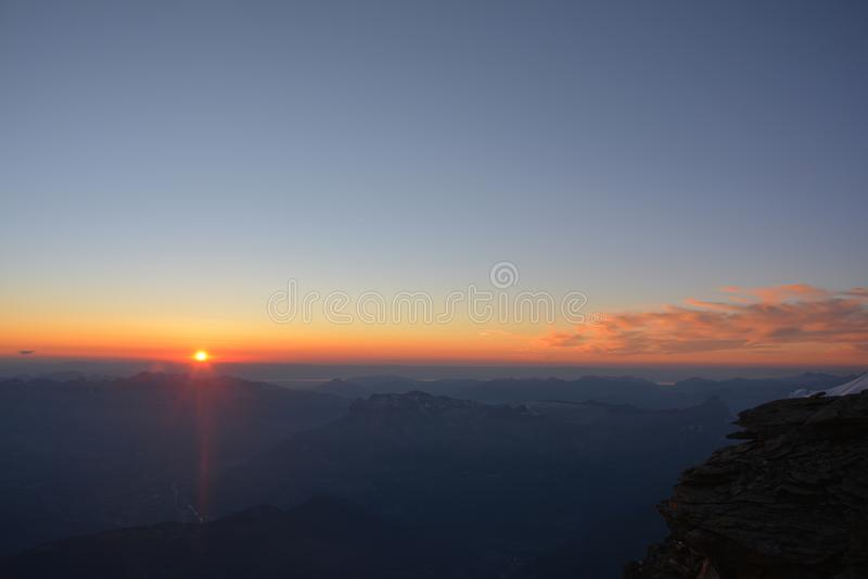 Macizo de Mont Blank imagen de archivo