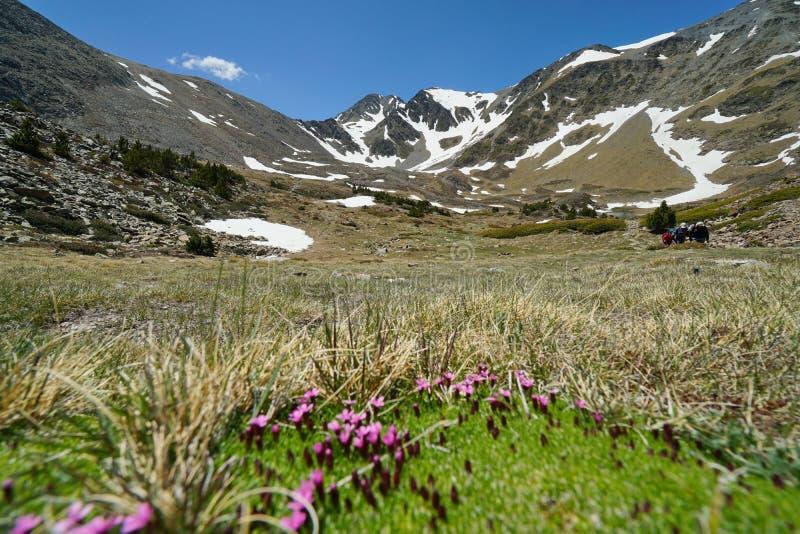 Macizo Francia los Pirineos de Carlit del paisaje de la montaña fotos de archivo