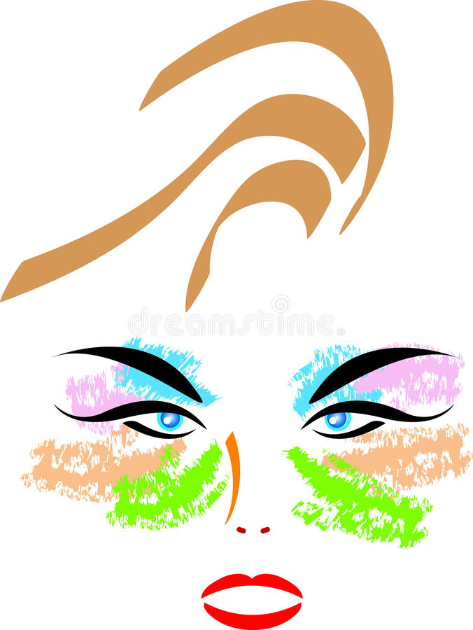 Download Mack up face stock vector. Image of fashion, eyes, beautiful - 13546396
