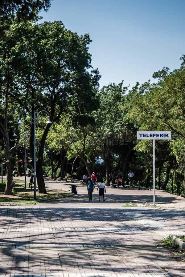 Macka Hill i Istanbul, Turkiet arkivfoton