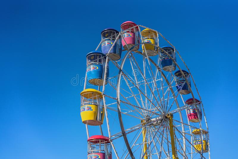 Ferris Wheel Ride High In The Sky stock photography