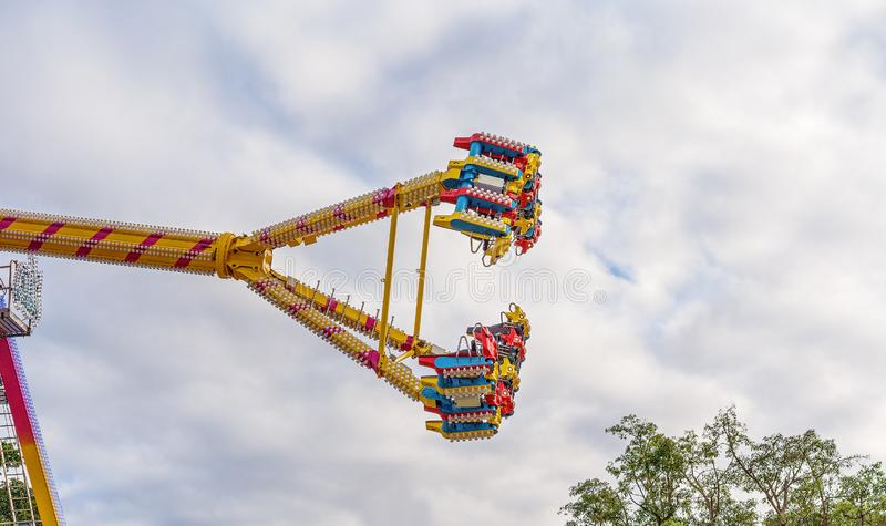 Thrill Ride At Country Fair royalty free stock image
