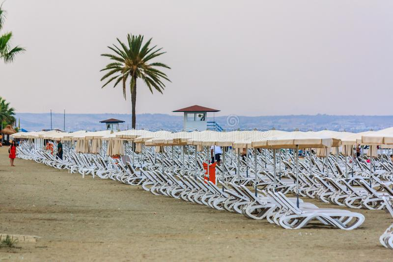 Mackenzie Beach, Chypre photographie stock libre de droits
