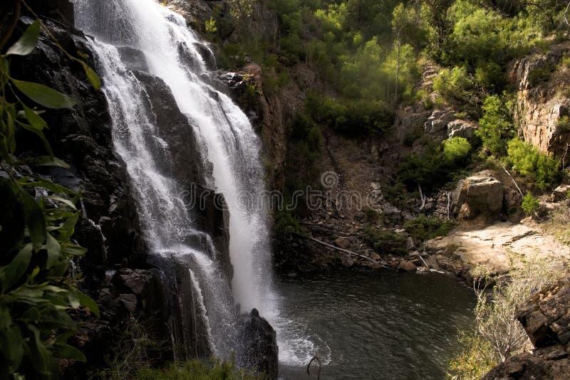 Mackenziedalingen - beroemde waterval in het Nationale Park van Grampians, Australië stock foto