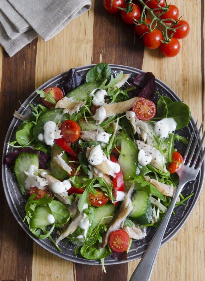 Free Mackerel Salad Royalty Free Stock Photo - 38427835