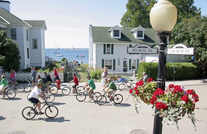 Download Mackinac Island, Michigan, Bikes, Bikes, Bikes Editorial Stock Image - Image: 34147864