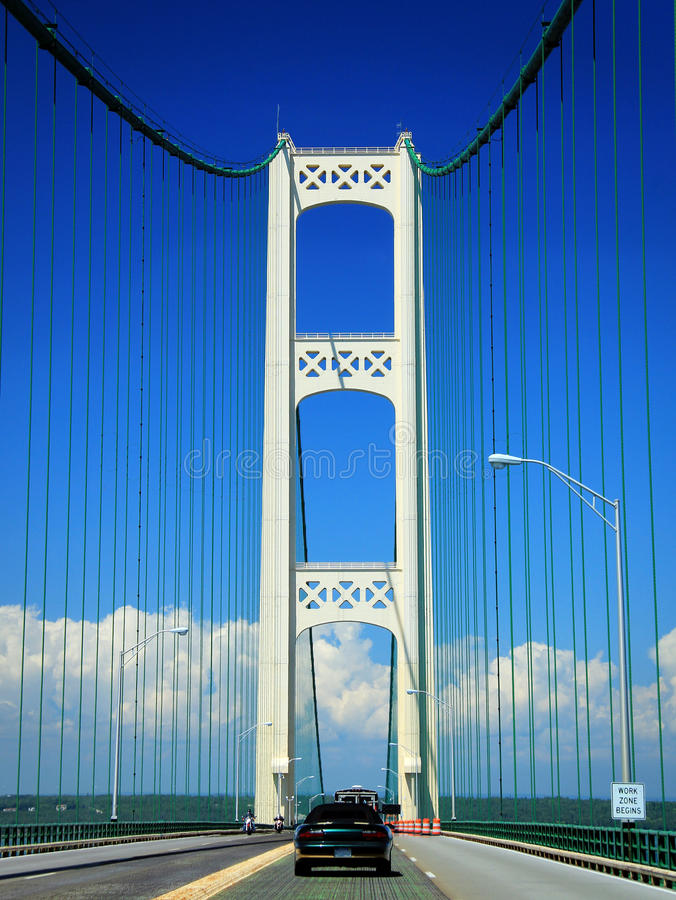 mackinac моста стоковое фото