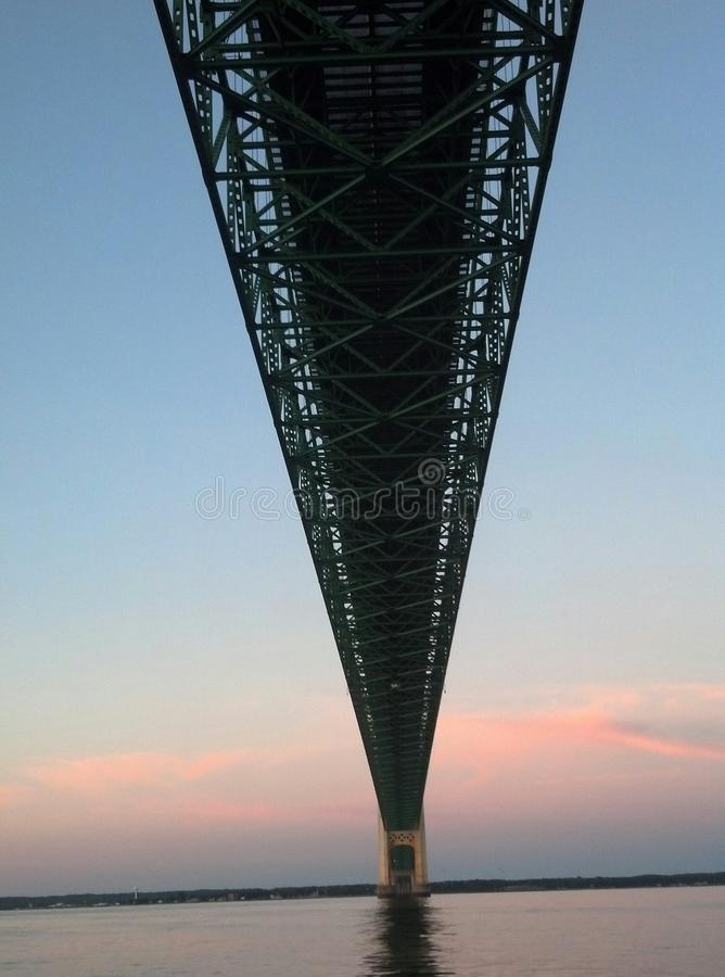 Mackinac Brücke in Michigan lizenzfreies stockfoto