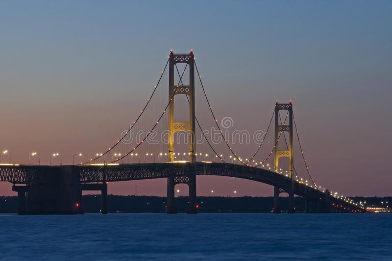 Mackinac Bridge, Mackinaw City Michigan royalty free stock photography