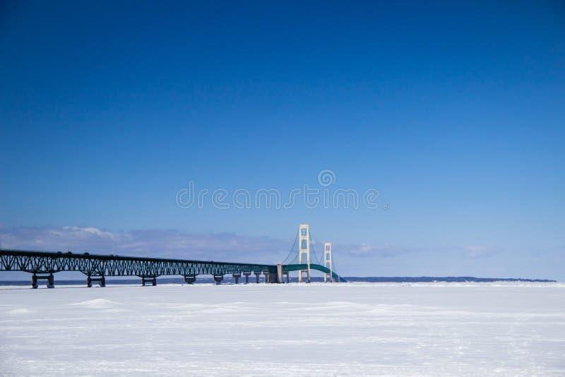 Download Mackinac Bridge In The Winter Stock Photo - Image of lake, crossing: 39506480