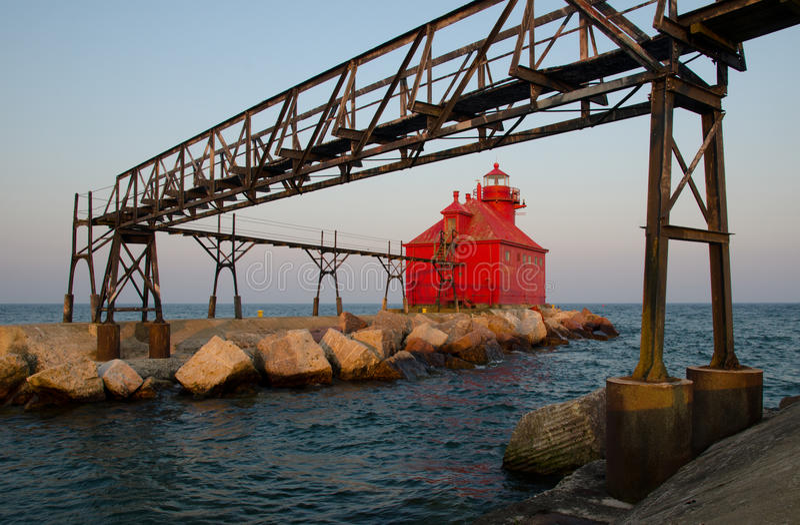 Mackinac bro, Mackinaw stad, Michigan, USA royaltyfria foton