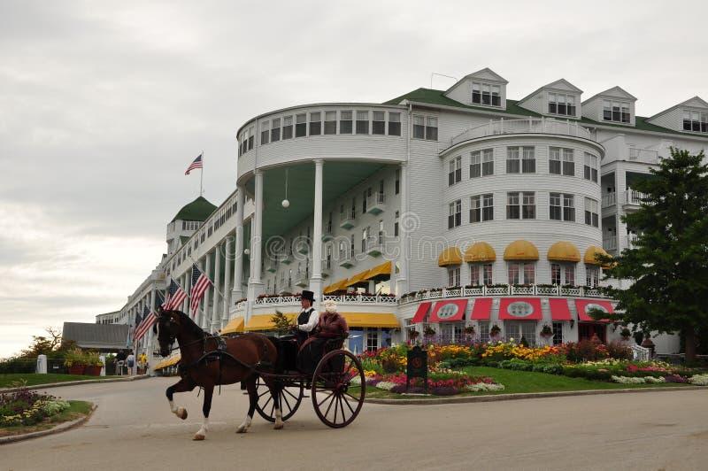 Mackinac-eiland: Het Land van paarden, fietsen, en natuur royalty-vrije stock fotografie