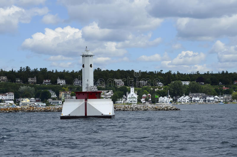 Mackinac-Hafen stockbilder