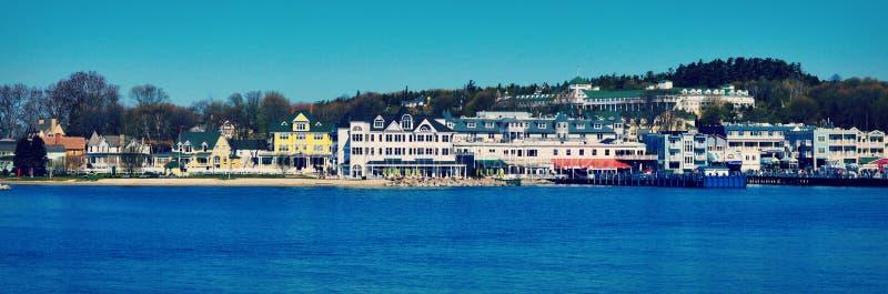 Mackinac-Insel-Küstenlinie lizenzfreies stockbild