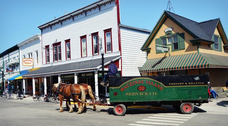 Mackinac-Insel Stagecoach stockfoto