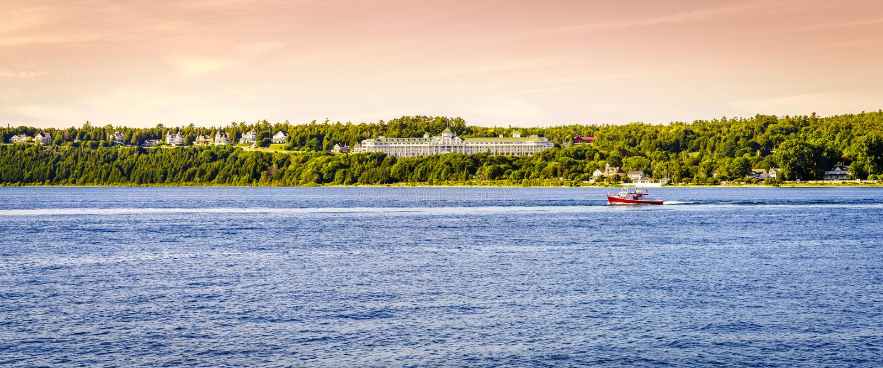 Mackinac Island Grand Hotel stock images