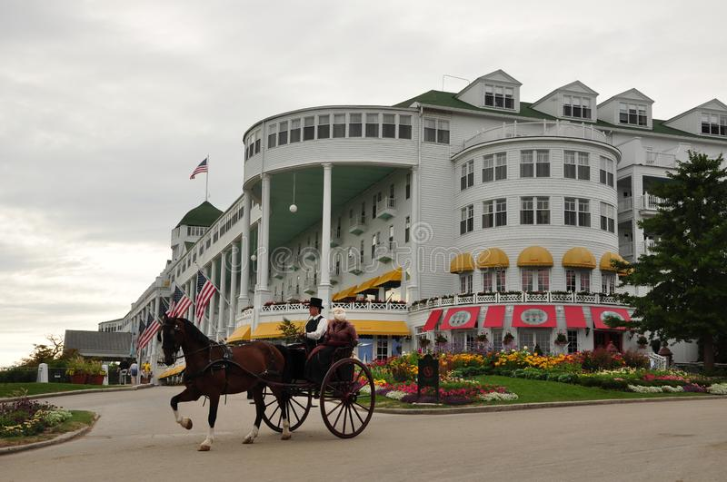 Mackinac Island: The Land of horses, bikes, and nature royalty free stock photography