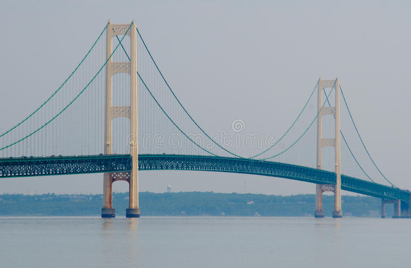 Mackinac most, Mackinaw miasto, Michigan, usa obrazy royalty free