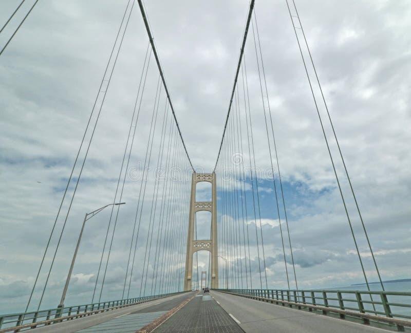 Mackinac zawieszenia most, Górny półwysep, MI zdjęcia royalty free