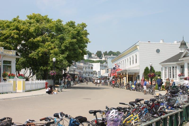 Mackinaceiland Main Street royalty-vrije stock fotografie