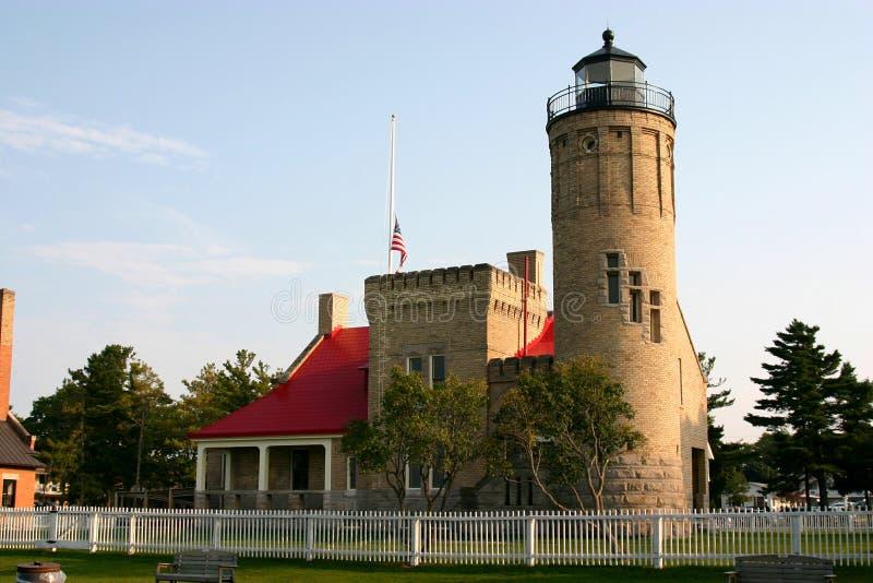 Mackinaw City Lighthouse royalty free stock photo