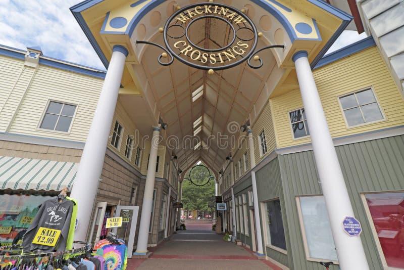 Mackinaw korsningar, Mackinaw stad, MI royaltyfri fotografi