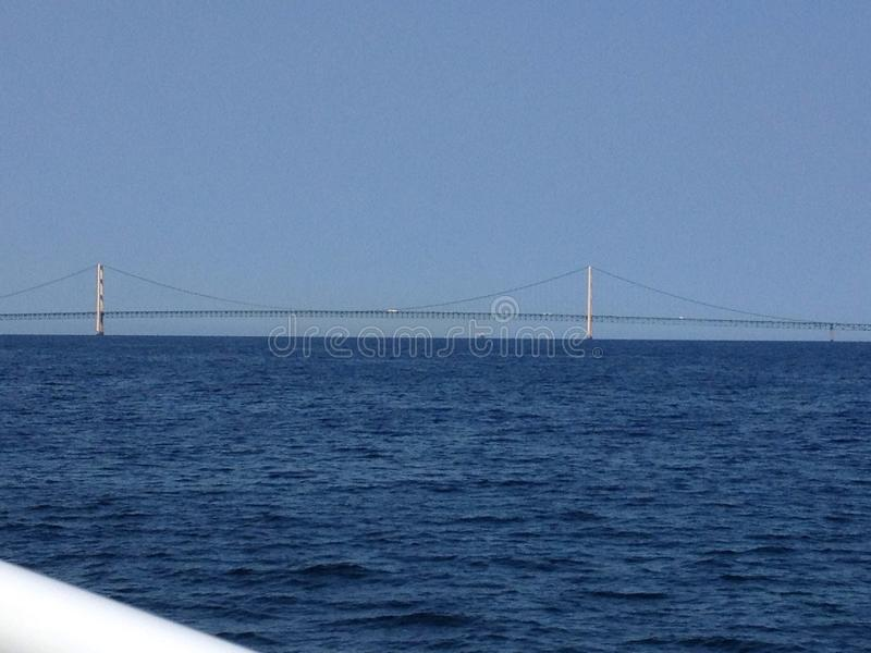Mackinawbrug stock afbeeldingen