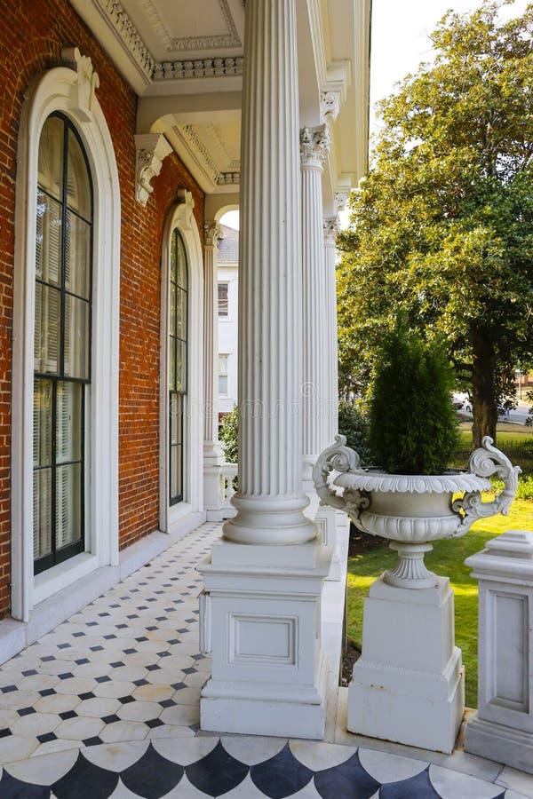 MACON, GEORGIA - 29. OKTOBER 2013: Johnston-Felton-Hay House lizenzfreies stockfoto