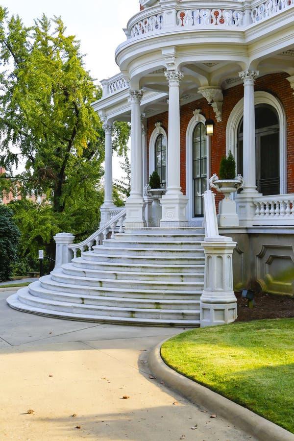 MACON, GEORGIA - 29 OTTOBRE 2013: Johnston-Felton-Hay House fotografie stock