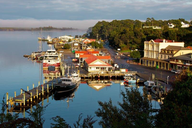 Macquarie-Hafen Strahan Tasmanien lizenzfreie stockbilder