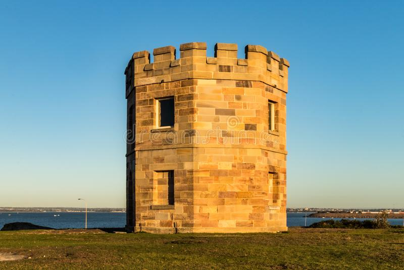 Macquarie Watch Tower at Sunrise. Historic Macquarie Watch Tower in Sydney, Australia royalty free stock images