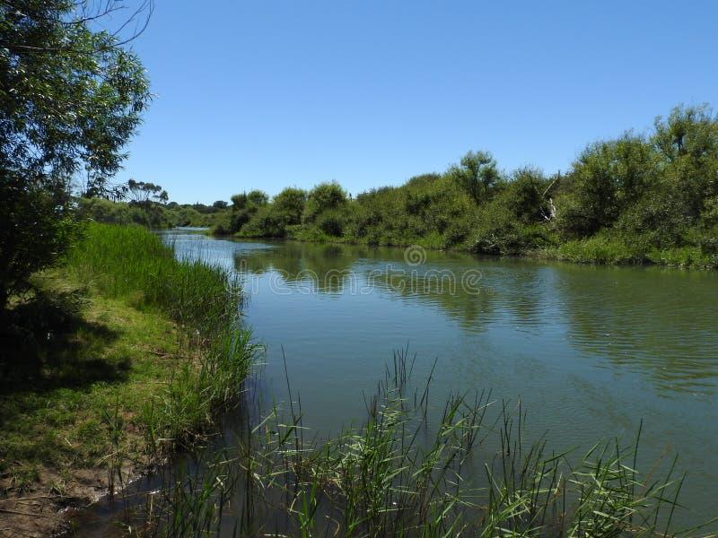 Macquarierivier, Longford, Tasmanige stock afbeelding