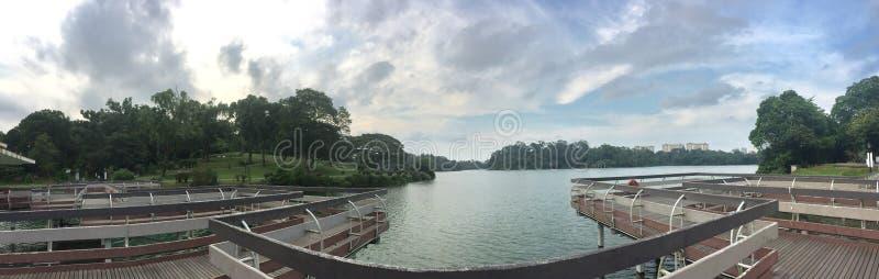 Macritchie在湖02的水库平台 库存照片