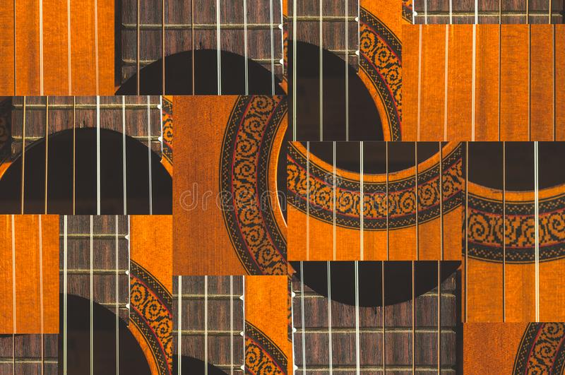 Macro of the Acoustic Guitar Strings pattern royalty free stock images