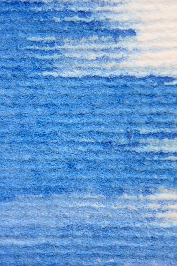 Macro acquerello blu su carta strutturata 2 immagine stock libera da diritti