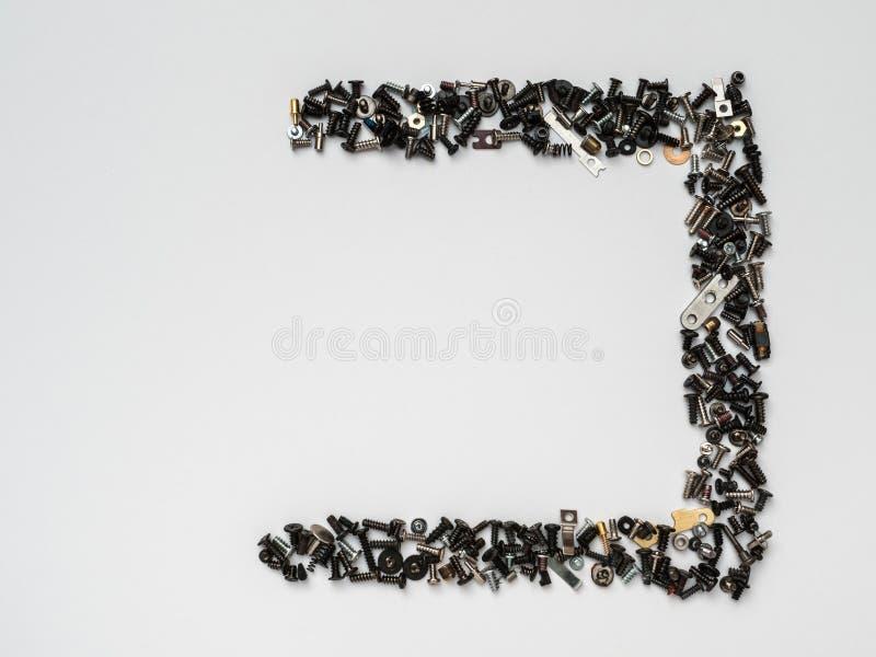 Macro aimants minimalistes de witth de concept et éléments techniques images libres de droits