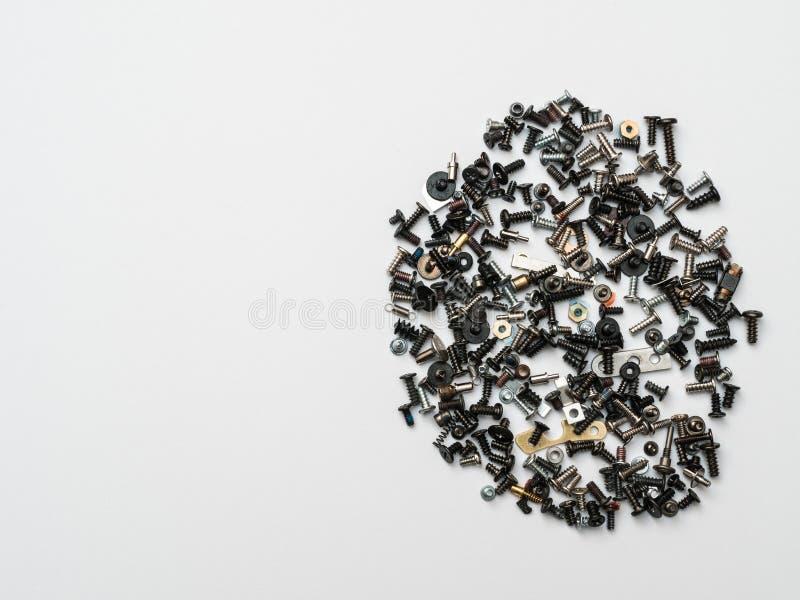 Macro aimants minimalistes de witth de concept et éléments techniques photo stock
