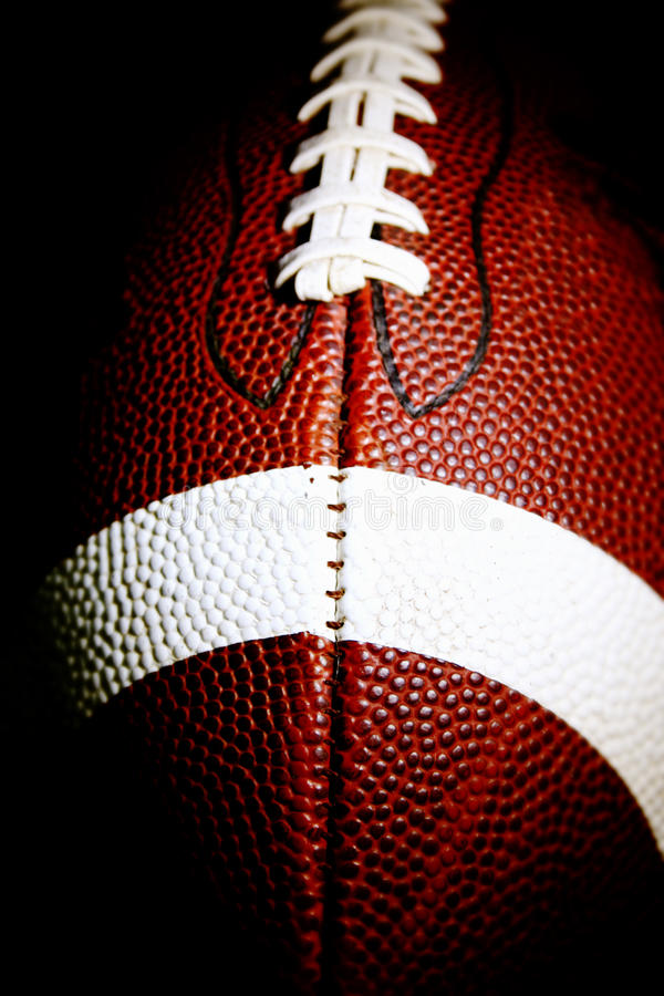 Download Macro Of An American Football Royalty Free Stock Photos - Image: 9400388