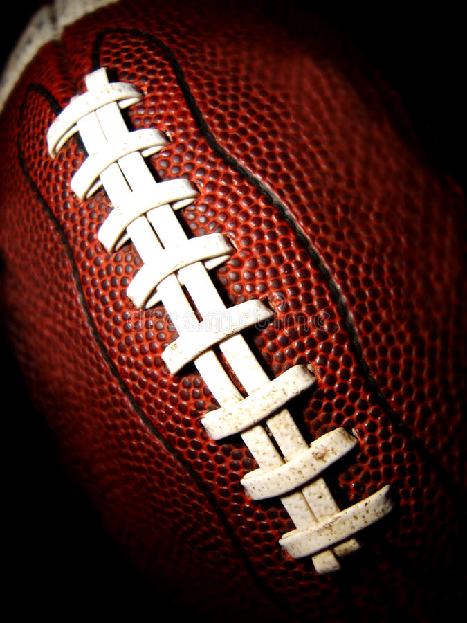 Macro of an American football vertical royalty free stock image