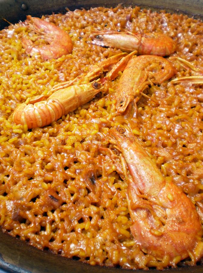 Download Macro Of An Authentic  Shellfish Paella Stock Photo - Image of meat, recipe: 14022520
