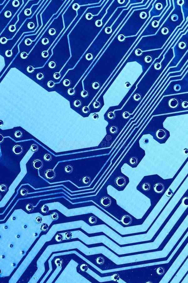Macro azul da placa de circuito imagem de stock royalty free